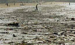 <p>Garbage is seen on a sea front in Mumbai REUTERS/Punit Paranjpe</p>