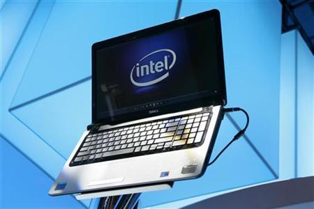 A laptop displays the Intel logo at the 2010 International Consumer Electronics Show (CES) in Las Vegas, Nevada January 7, 2010. REUTERS/Steve Marcus