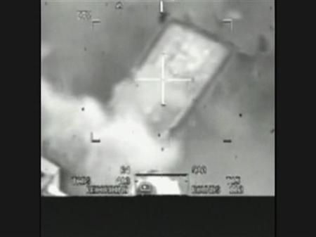 This image captured from a classified U.S. military video footage shows a van being attacked by U.S. Apache helicopters that killed a dozen people in Baghdad, including two Reuters news staff on July 12, 2007 and released to Reuters on April 5, 2010 by WikiLeaks, a group that promotes leaking to fight government and corporate corruption. REUTERS/WikiLeaks/Handout