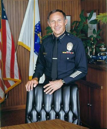 Undated photograph of former LAPD (Los Angeles Police Department) Chief Daryl Gates is shown in this photograph released to Reuters on April 16, 2010. Gates died on Friday at 83. Gates was in charge at the time of the 1991 beating of Rodney King and the 1992 L.A. Riots that followed. REUTERS/LAPD/Handout