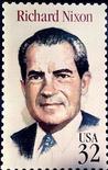 <p>Марка с изображением бывшего президента США Ричарда Никсона. 22 апреля 1994 года в возрасте 81 года умер бывший президент США Ричард Никсон. REUTERS/Sam Mircovich</p>