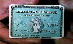 <p>Elvis Presley's personal American Express card is displayed during a press preview May 3 in Los Angeles</p>