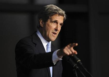 Senator John Kerry (D-MA) speaks during a ''Celebration of Life Memorial Service'' for late Senator Edward Kennedy at the John F. Kennedy Library and Presidential Museum in Boston, Massachusetts August 28, 2009. REUTERS/Stan Honda/Pool