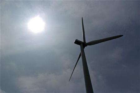 A power-generating windmill turbine operates in a wind farm on Backbone Mountain near Thomas, West Virginia August 28, 2006. REUTERS/Jonathan Ernst
