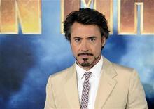 """<p>Robert Downey Jr. na exibição do filme """"Homem de Ferro 2"""" em Los Angeles na Califórnia. O filme estreia neste final de semana em circuito nacional. 23/04/2010 REUTERS/Gus Ruelas</p>"""
