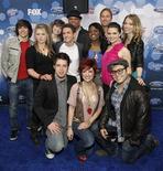 """<p>I 12 finalisti del talent """"American Idol"""" ideato da Fuller REUTERS/Mario Anzuoni</p>"""