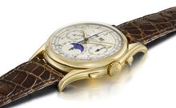 <p>A Patek Philippe perpetual calendar chronograph wristwatch is seen in a handout photo. REUTERS/Christie's/Handout</p>