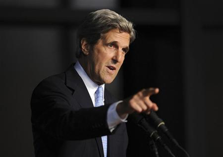 U.S. Senator John Kerry (D-MA) speaks during a ''Celebration of Life Memorial Service'' for late Senator Edward Kennedy at the John F. Kennedy Library and Presidential Museum in Boston, Massachusetts August 28, 2009. REUTERS/Stan Honda/Pool