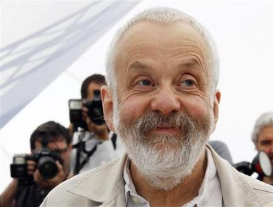 Director Mike Leigh poses at a photocall for the film ''Another Year'' in competition during the 63rd Cannes Film Festival in Cannes May 15, 2010. REUTERS/Yves Herman