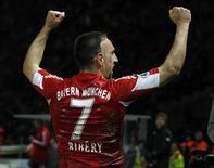 <p>Meia do Bayern de Munique Franck Ribery vai perder a final da Liga dos Campeões contra a Inter de Milão, após recurso do clube contra suspensão ter sido recusado. REUTERS/Kai Pfaffenbach</p>