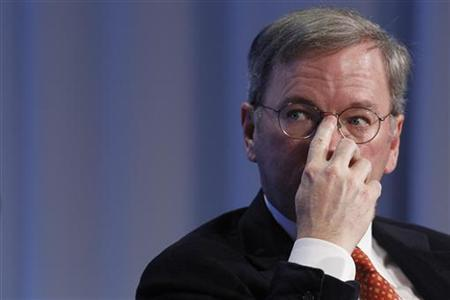 Eric Schmidt, CEO of Google attends a session at the World Economic Forum (WEF) in Davos January 29, 2010. REUTERS/Christian Hartmann