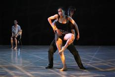"<p>Dancers from the LDTX troupe rehearse ""Standing Before Darkness"" by Tibetan choreographer Sang Jijia, at the National Centre for the Performing Arts in Beijing May 6, 2010. REUTERS/Grace Liang</p>"