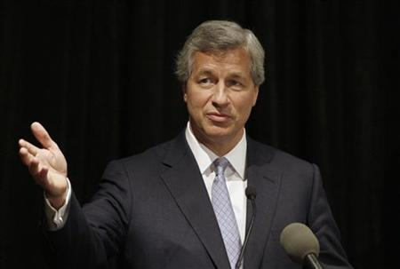 JP Morgan Chase CEO Jamie Dimon addresses a news conference at a tri-annual meeting of The Business Council in Dallas, Texas in this May 5, 2009 file photo. REUTERS/Jessica Rinaldi