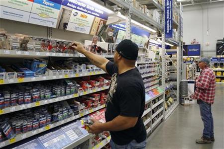 Customers shop at a Lowes store in Scottsdale, Arizona, February 22, 2010. REUTERS/Joshua Lott