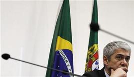 <p>O primeiro-ministro de Portugal, José Sócrates, esteve em São Paulo nesta quinta-feira. 27/05/2010 REUTERS/Nacho Doce</p>