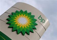 <p>Il logo di Bp su una pompa di benzina a Londra. REUTERS/Toby Melville (BRITAIN - Tags: BUSINESS ENVIRONMENT)</p>