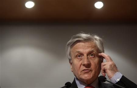 European Central Bank (ECB) President Jean-Claude Trichet addresses a conference hosted by Austrian National Bank in Vienna, May 31, 2010. REUTERS/Heinz-Peter Bader