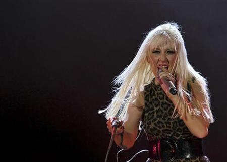U.S. singer Christina Aguilera performs at her concert in Emirates Palace in Abu Dhabi October 24, 2008. REUTERS/Mosab Omar