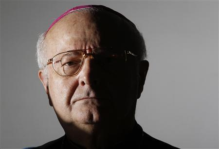 File photo of Archbishop Robert Zollitsch, head of the German Bishops' Conference, attending a news conference at the Vatican March 12, 2010. REUTERS/Tony Gentile