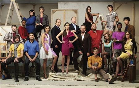 The cast of Bravo Networks new reality competition series 'Work of Art: The Next Great Artist' is shown in this undated publicity photo released to Reuters June 3, 2010. The show, which debuts Wednesday, June 9, pits 14 very different artists against each other in weekly challenges and awards the winner a $100,000 prize and a solo exhibition REUTERS/Bravo/Handout