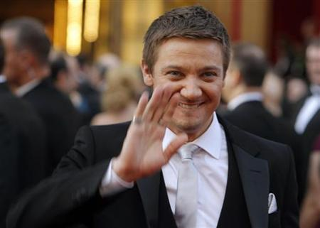 Jeremy Renner, best actor nominee for ''The Hurt Locker,'' arrives at the 82nd Academy Awards in Hollywood March 7, 2010. REUTERS/Brian Snyder