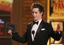 "<p>Eddie Redmayne accepts his award for Best Performance by a Featured Actor in a Play for his work in ""Red"" at the American Theatre Wing's 64th annual Tony Awards ceremony in New York, June 13, 2010. REUTERS/Gary Hershorn</p>"