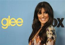 "<p>Cast member Lea Michele poses at a party to celebrate the premiere of the second season of the television series ""Glee"" in Los Angeles April 12, 2010. REUTERS/Mario Anzuoni</p>"