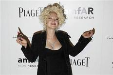 <p>Singer Cyndi Lauper arrives to attend the amfAR (The Foundation for AIDS Research) Inspiration Gala in New York June 3, 2010. REUTERS/Lucas Jackson</p>