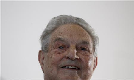 U.S. billionaire investor George Soros waits to deliver a speech at the Humboldt university in Berlin, June 23, 2010. REUTERS/Tobias Schwarz