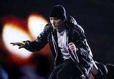 <p>Eminem performs at the 52nd annual Grammy Awards in Los Angeles January 31, 2010. REUTERS/Mike Blake</p>