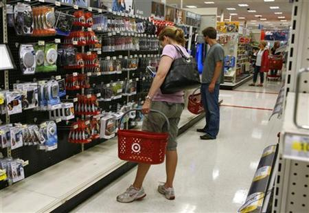 Shoppers browse items in an aisle at Target in Falls Church, Virginia in this May 28, 2010 file photo. REUTERS/Kevin Lamarque