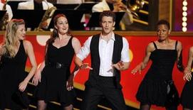"<p>Matthew Morrison of ""Glee"" performs at the American Theatre Wing's 64th annual Tony Awards ceremony in New York, June 13, 2010. REUTERS/Gary Hershorn</p>"