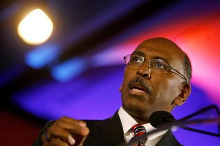 RNC Chairman Michael Steele speaks at the 2010 Southern Republican Leadership Conference in New Orleans, Louisiana April 10, 2010. REUTERS/Sean Gardner