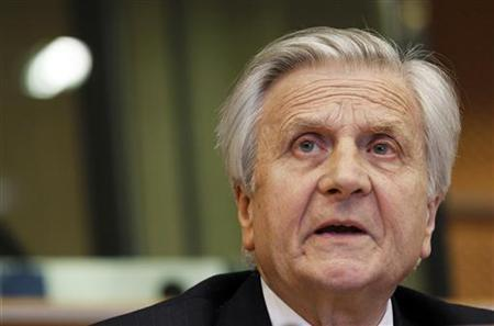 European Central Bank Chairman Jean-Claude Trichet appears before the Committee on Economic and Monetary Affairs of the European Parliament in Brussels June 21, 2010. REUTERS/Thierry Roge