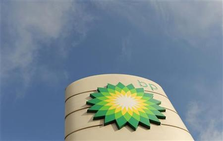 A logo on a British Petroleum petrol station is seen in London April 30, 2010. REUTERS/Toby Melville