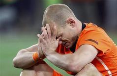 <p>Wesley Sneijder após derrota da Holanda para a Espanha na final da Copa do Mundo. REUTERS/Michael Kooren</p>