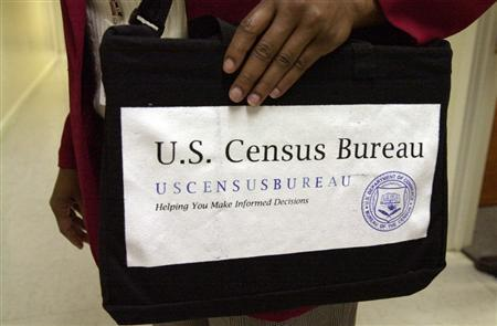 The census tote bag often used while collecting door-to-door information, in an undated photo. REUTERS/U.S. Census Bureau