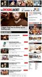 <p>The homepage of Playboy's new non-nude website www.TheSmokingJacket.com. REUTERS/Playboy</p>