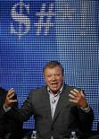 "<p>El actor William Shatner habla sobre su programa ""$#*! My Dad Says"" en Beverly Hills. Jul 28 2010. REUTERS/Lucy Nicholson</p>"