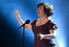 """<p>Susan Boyle canta """"I Dreamed a Dream"""" em evento beneficente, em Copenhague. Susan Boyle e a música de Paul McCartney estarão presentes na nova temporada da comédia musical """"Glee"""". 30/01/2010 REUTERS/Casper Christoffersen/Arquivo</p>"""