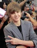<p>Justin Bieber na cerimônia do MuchMusic Video Awards em Toronto. Bieber fará sua estreia no cinema em tempo para o próximo Dia dos Namorados nos EUA. 20/06/2010 REUTERS/Mark Blinch</p>