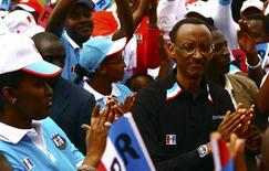 <p>Rwanda's President Paul Kagame attends a political rally by the the ruling Rwandan Patriotic Front (RPF) in the capital Kigali, May 15, 2010. REUTERS/Hereward Holland</p>