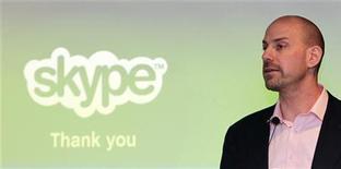 <p>Josh Silverman, le directeur général de Skype. La société de téléphonie par internet a déposé une demande auprès des autorités américaines de régulation en vue de son introduction en Bourse dans le but de lever jusqu'à 100 millions de dollars (75,5 millions d'euros). /Photo prise le REUTERS/Pichi Chuang</p>