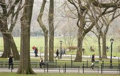 <p>Центральный парк в Нью-Йорке 2 апреля 2009 года. Власти Нью-Йорка предъявили иск к аукционному дому Christie's и потребовали вернуть акварельные рисунки британского архитектора Джейкоба Рея Моулда, датируемые 1860-ми годами. REUTERS/Lucas Jackson</p>