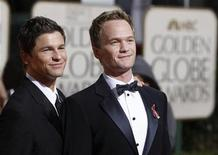 <p>Actor Neil Patrick Harris (R) arrives with his partner, Broadway actor David Burtka at the 67th annual Golden Globe Awards in Beverly Hills, California January 17, 2010. REUTERS/Danny Moloshok</p>