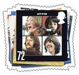 """<p>Обложка альбома """"Let It Be"""" на памятной марке Королевской почты Великобритании, 9 января 2007 года. Песня Джона Леннона и Пола Маккартни """"A Day in the Life"""" 1967 года возглавила хит-лист сотни самых великих песен Beatles по версии журнала Rolling Stone. REUTERS/Royal Mail/Handout</p>"""