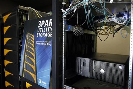 Utility storage units are shown at 3Par Inc, company headquarters in Fremont, California August 27, 2010. REUTERS/Robert Galbraith