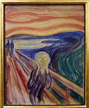 """<p>Картина Эдварда Мунка """"Крик"""" демонстрируется в музее художника в Осло, 21 мая 2008 года. 31 августа 2010 года полиция нашла украденную в 2004 году картину норвежского художника-экспрессиониста Эдварда Мунка """"Крик"""". REUTERS/Scanpix Norway/Stian Lysberg Solum</p>"""