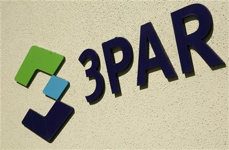 The logo of 3Par Inc, is shown at the company's headquarters in Fremont, California August 27, 2010. REUTERS/Robert Galbraith