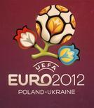<p>Официальный логотип Евро-2012 во время пресс-конференции в Киеве 14 декабря 2009 года. Первые матчи отборочного цикла чемпионата Европы по футболу 2012 года пройдут в Старом Свете в пятницу, 3 сентября. REUTERS/Konstantin Chernichkin</p>